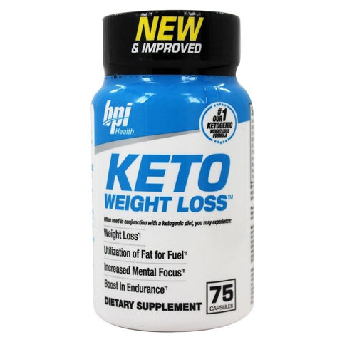 BPI Sports Keto Weight Loss Ultimate Dietary Ketogenic Fat Burner 75 Capsules