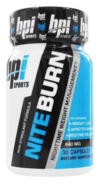 BPI Sports NITE BURN Nighttime Weight Management Fat Burner - 30 capsules