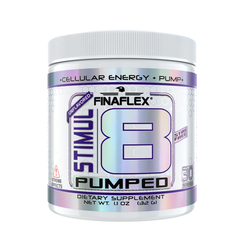 Finaflex Stimul8 PUMPED Pre Workout Energy, 30 Serves UNFLAVORED Agmatine Matrix