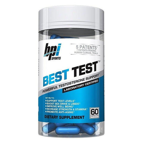 Bpi Sports BEST TEST Testosterone Booster 60 capsules NIAGEN, QUERCETIN