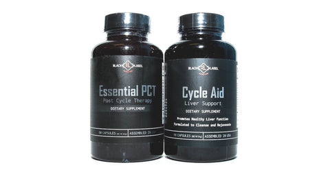 Black Label Essential PCT Post Cycle Therapy + Cycle Aid - COMBO PACK