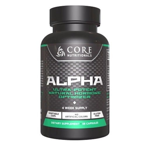Core Nutritionals ALPHA Testosterone Booster PCT Anti-Aromatase 56 caps GET HARD