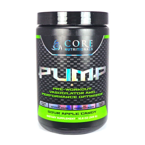 Core Nutritionals PUMP Stim Free Pre-Workout NO Booster 28 Servings PICK FLAVOR