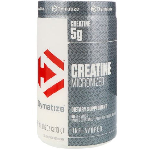 Dymatize Micronized CREATINE Monohydrate 60 Serving 300g LEAN MUSCLE Unflavored