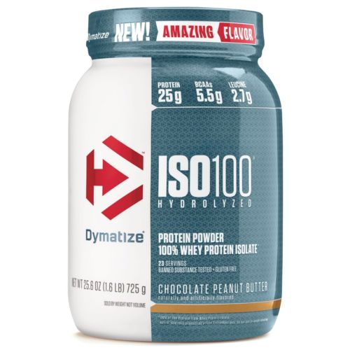 Dymatize ISO 100 Hydrolyzed Whey Protein Isolate 1.6 lbs - 25 Servings PICK FLAVOR