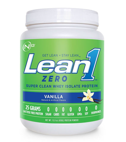 Nutrition 53 Lean 1 Zero Whey Isolate Protein - 450 gram PICK FLAVOR