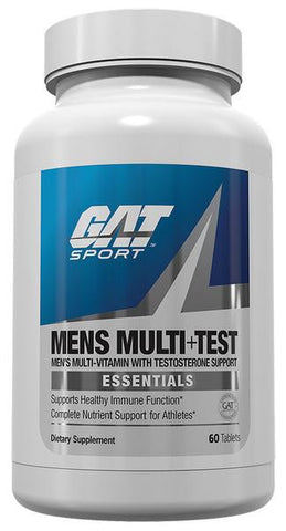 GAT Men's Multi + Test Multivitamin Testosterone Booster CHOOSE SIZE