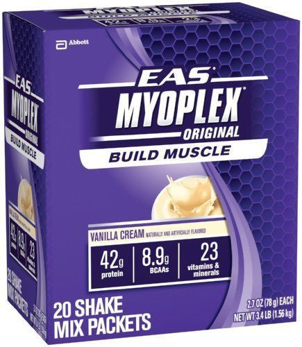 EAS MYOPLEX ORIGINAL Meal Replacement Whey Protein BCAA Amino Acids 20 Packets