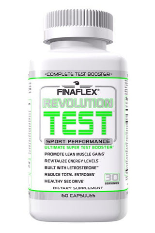 FinaFlex REVOLUTION TEST Testosterone Booster PCT Energy 60 caps BLOCK ESTROGEN