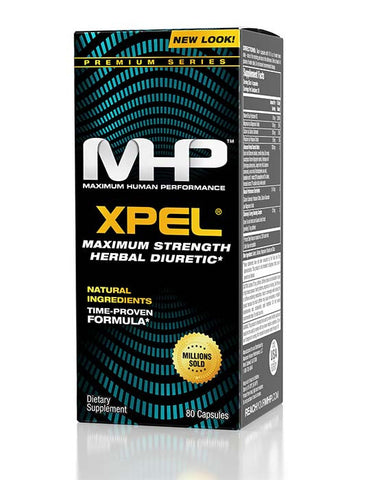 MHP X-PEL Herbal Water Loss All Natural Diuretic XPEL 80 capsules