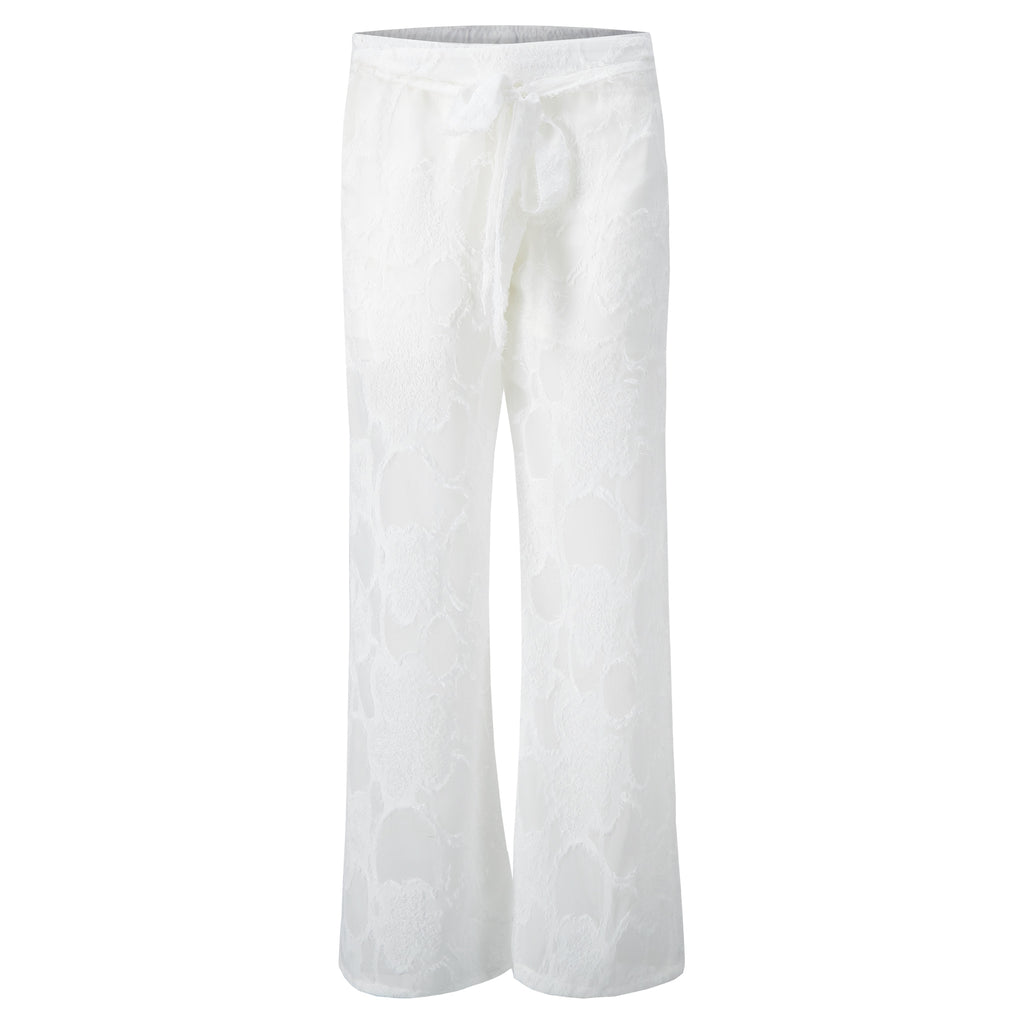 ABBEY Pant in White Sheer