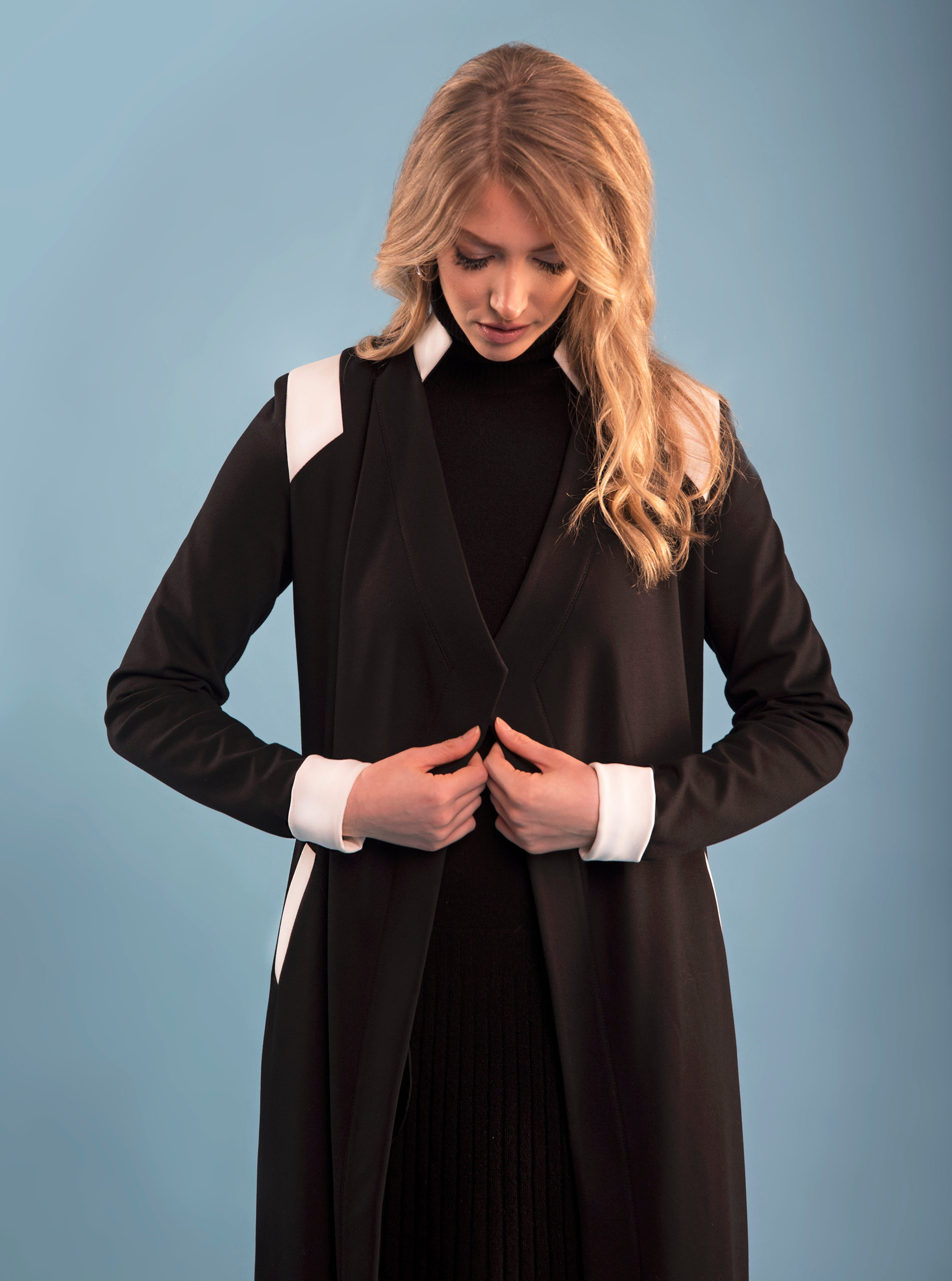 Stretch B&W Contrast Jacket