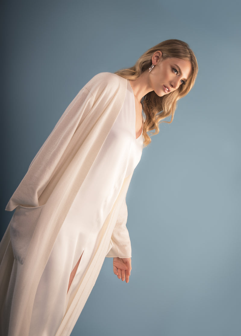 Pure Cashmere Sweater Robe
