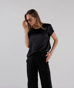 Stretch Silk Crew Neck T-Shirt