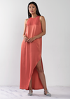 Collared Wrap Maxi Dress