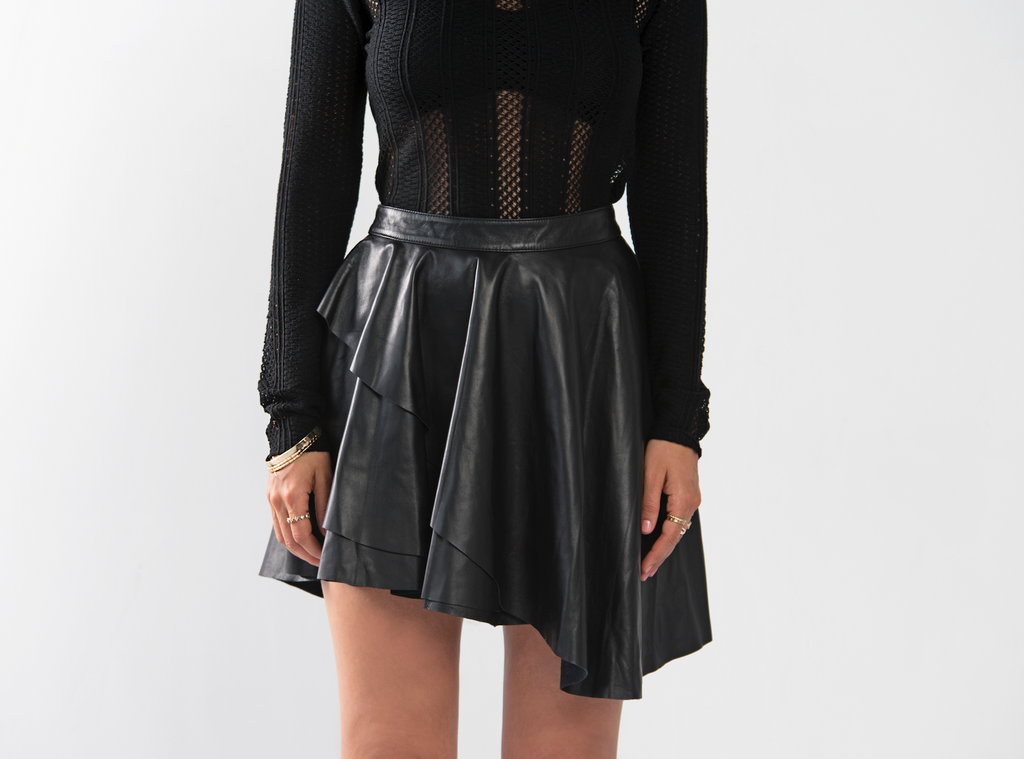 Genuine Leather Party Skirt
