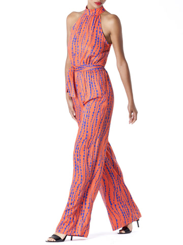 """Kimmy"" Sleeveless Halter Jumpsuit"
