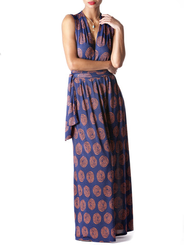 """Billie"" V Neck Shirring Maxi Dress"
