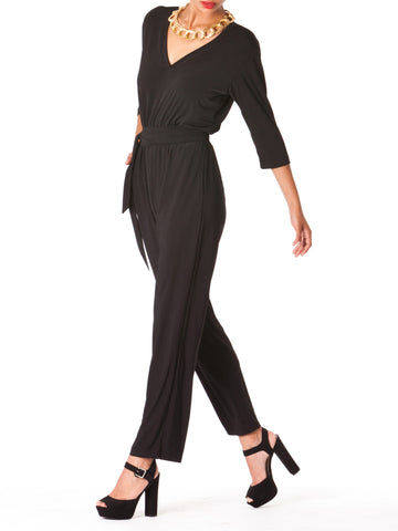 """Chloe"" Quarter Sleeve Jumpsuit"