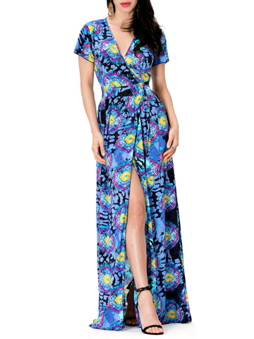 """Brooklyn"" Flowy Print Wrap Dress"