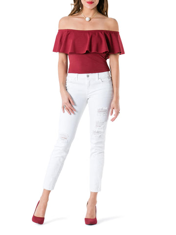 """Rosie"" Frill Off Shoulder Blouse"