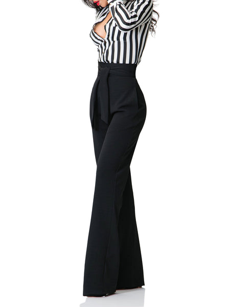 """Camila"" Belted High Waist/Wide Leg Pants"