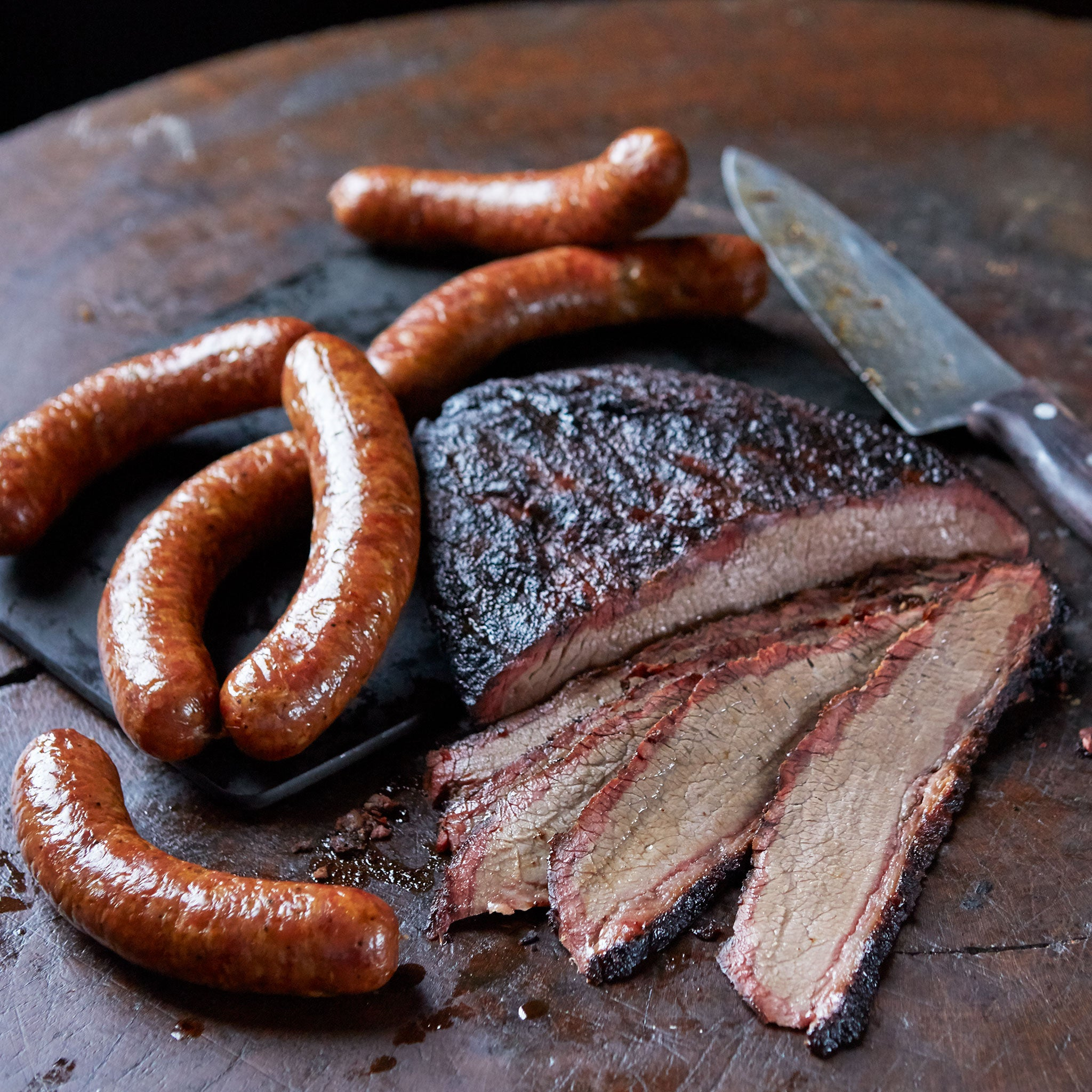 Brisket & Sausage, Joe's Kansas City Bar-B-Que, Joe's KC, BBQ, Barbecue, Kansas City, Ship BBQ