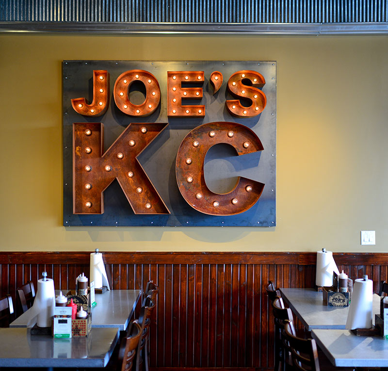 Joe's KC Name Change Sign