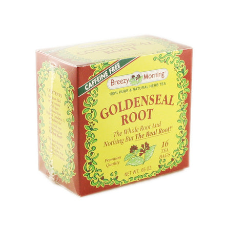 Breezy Morning - Golden Seal Root 12 x 16 Tea Bags