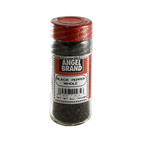 Angel Brand Black Pepper Whole 24 x 4.5 oz Bottle
