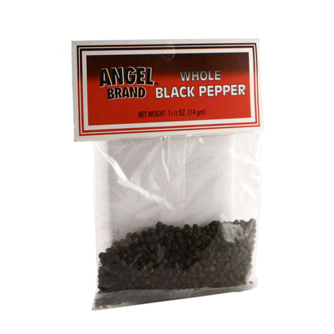 Angel Brand Black Pepper Whole 24 x 1.5 oz Pkg