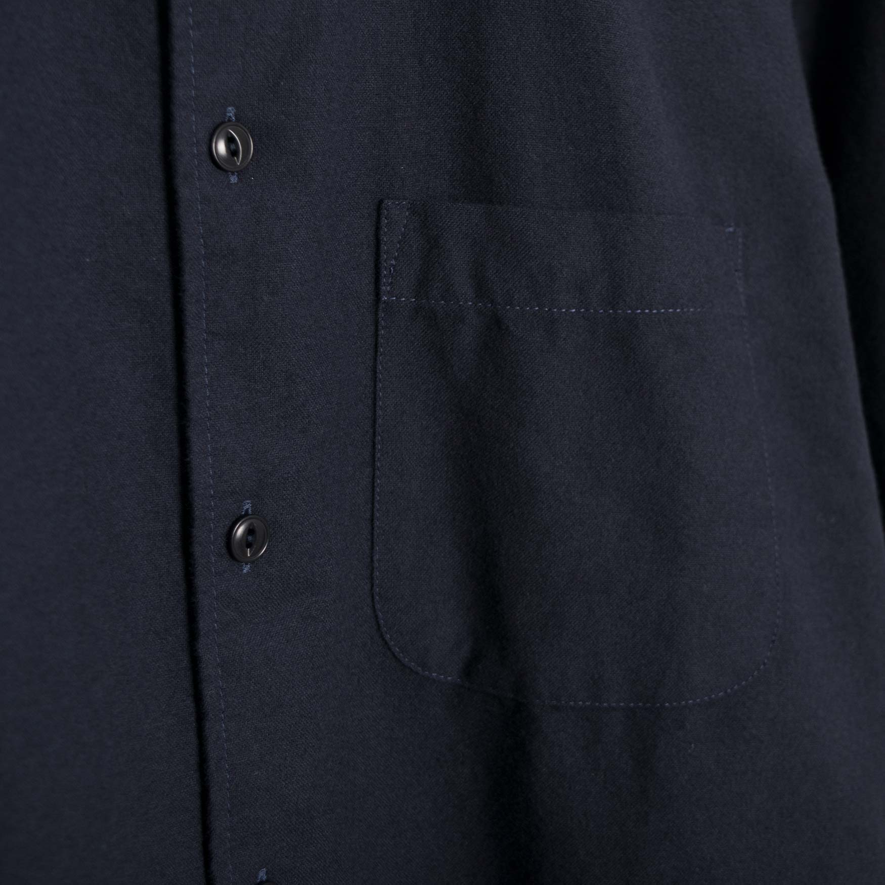 YMC Curtis Shirt - Navy Brushed Oxford