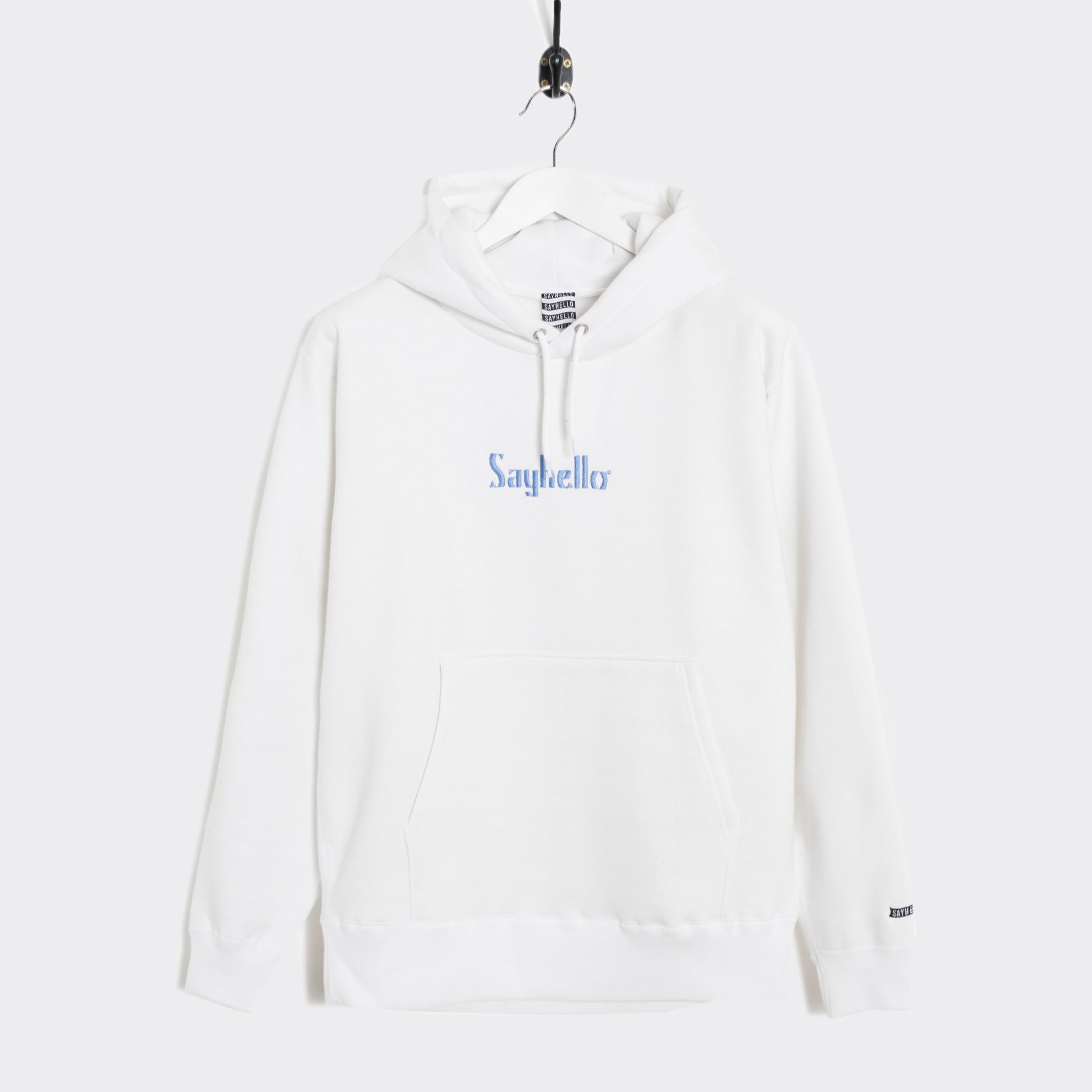 Sayhello Classic Logo Hooded Sweatshirt - White