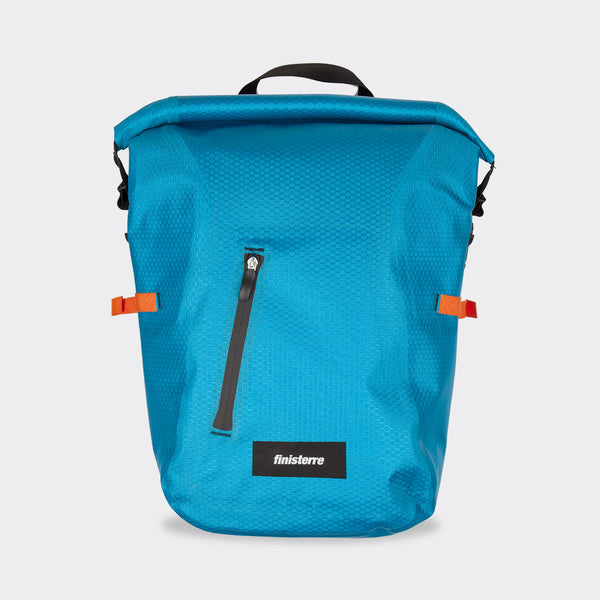 Finisterre x Ortlieb Waterproof Rucksack - Cerulean Blue Backpack - CARTOCON