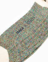 YMC 8 Colour Twist Socks - Green Mix Socks - CARTOCON