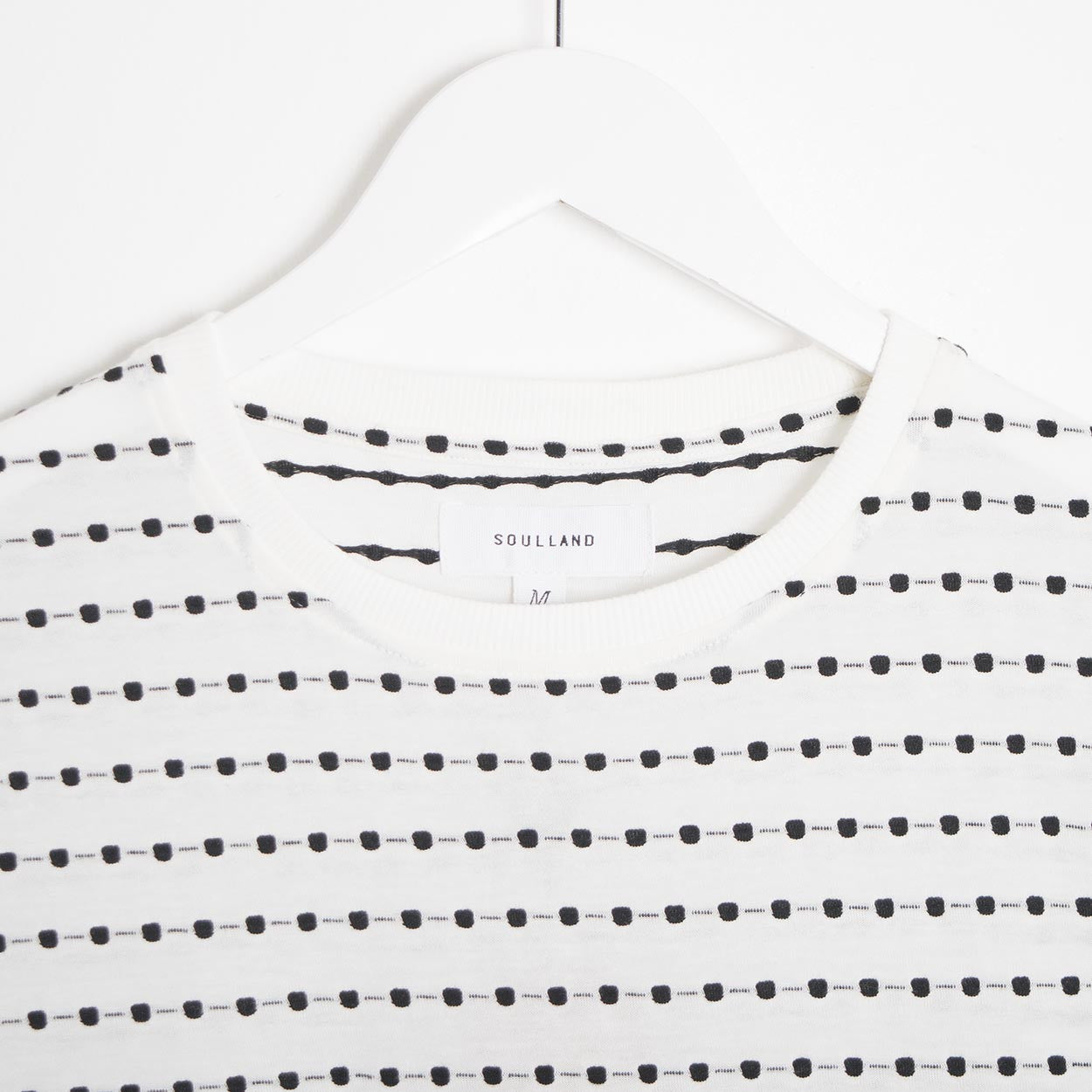Soulland Fernell Jaquard T-Shirt - White