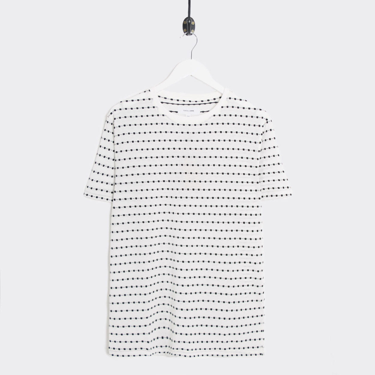 Soulland Fernell Jaquard T-Shirt - White  - CARTOCON