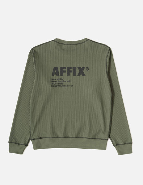 AFFIX Standardised Logo Sweatshirt - Field Green