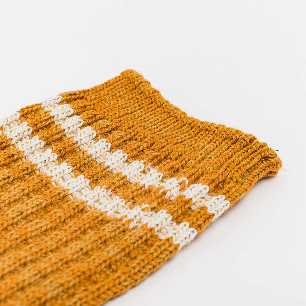 Anonymous Ism 2 Line Pique Ribbed Sock - Mustard - 3