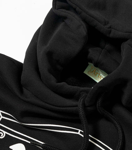 Aries Two Chains Heavyweight Hooded Sweatshirt - Black Hoody - CARTOCON