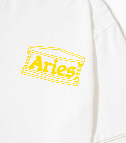 Aries AW19 Classic Temple T-Shirt - White T-Shirt - CARTOCON