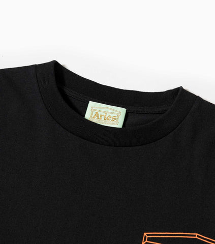 Aries AW19 Classic Temple T-Shirt - Black T-Shirt - CARTOCON