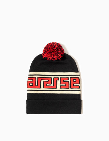 Aries Meandros Beanie - Black/Ecru