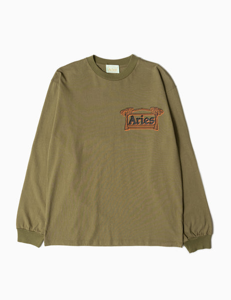 Aries Faries Long Sleeve T-Shirt - Olive