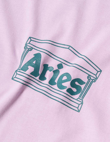 Aries Temple SS20 T-Shirt - Pink T-Shirt - CARTOCON