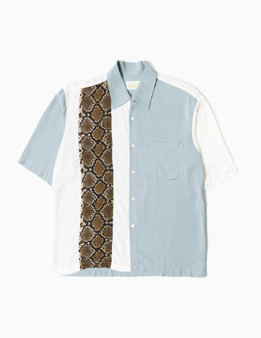 Aries Hawaiian Shirt With Panel - White/Grey Shirt - CARTOCON