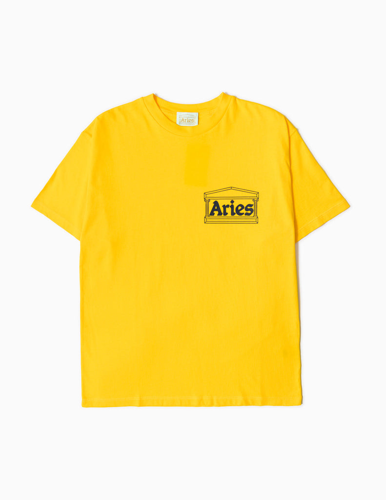 Aries Temple SS20 T-Shirt - Yellow T-Shirt - CARTOCON