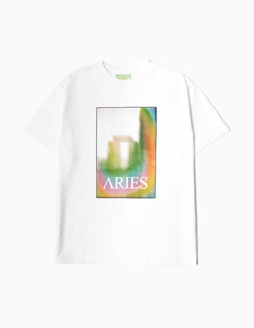 Aries Stonehenge Polaroid T-Shirt - White T-Shirt - CARTOCON
