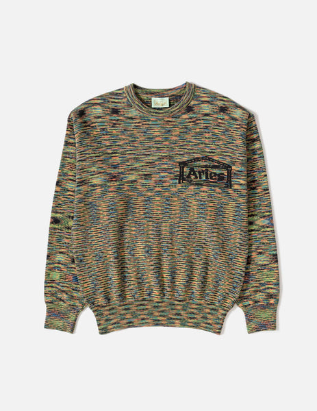 Aries Magic Eye Temple Knitted Jumper - Black