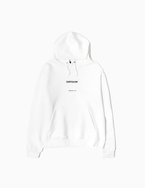CARTOCON 2020 Logo Hoody - White Hoody - CARTOCON